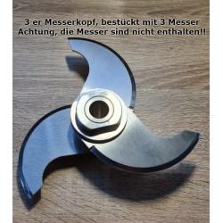 3er Messerkopf passend für den Kutter BFK9. Bestückt mit 3 Messer