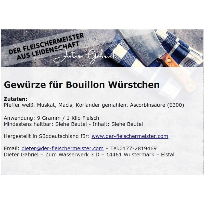 Gewürzmischung Bouillon Würstchen vom Fleischermeister aus Leidenschaft