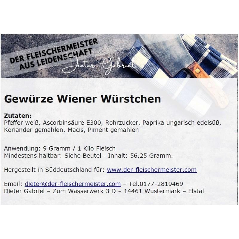 Gewürzmischung Wiener Würstchen vom Fleischermeister aus Leidenschaft