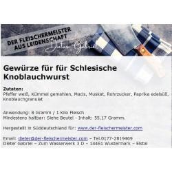 Gewürzmischung schlesische Knoblauchwurst vom Fleischermeister aus Leidenschaft