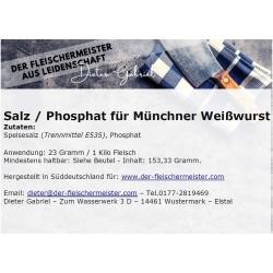 Gewürzmischung Münchner Weißwurst vom Fleischermeister aus Leidenschaft