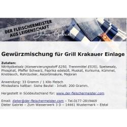 Gewürzmischung Grill Krakauer vom Fleischermeister aus Leidenschaft