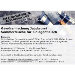 Gewürzmischung Jagdwurst Sommerfrische für das Einlagenfleisch vom Fleischermeister aus Leidenschaft