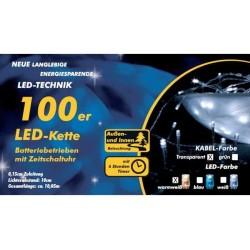 Weihnachtsbeleuchtung Mit Timer.100er Led Lichterkette Mit Timer Warm Weiß Batterie Weihnachtsbeleuchtung Xmas
