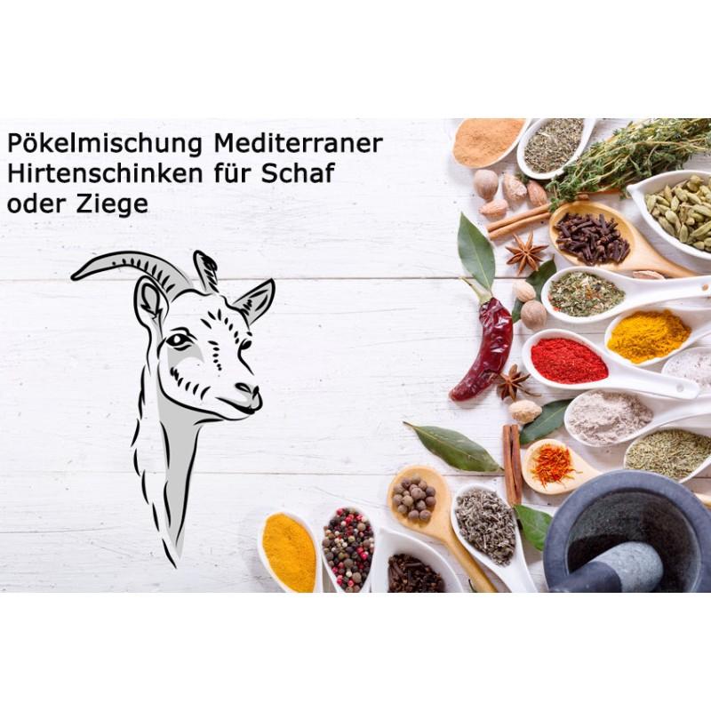 Pökelmischung Mediterraner Hirtenschinken für 4 Kilo Fleisch Deutsche Handarbeit