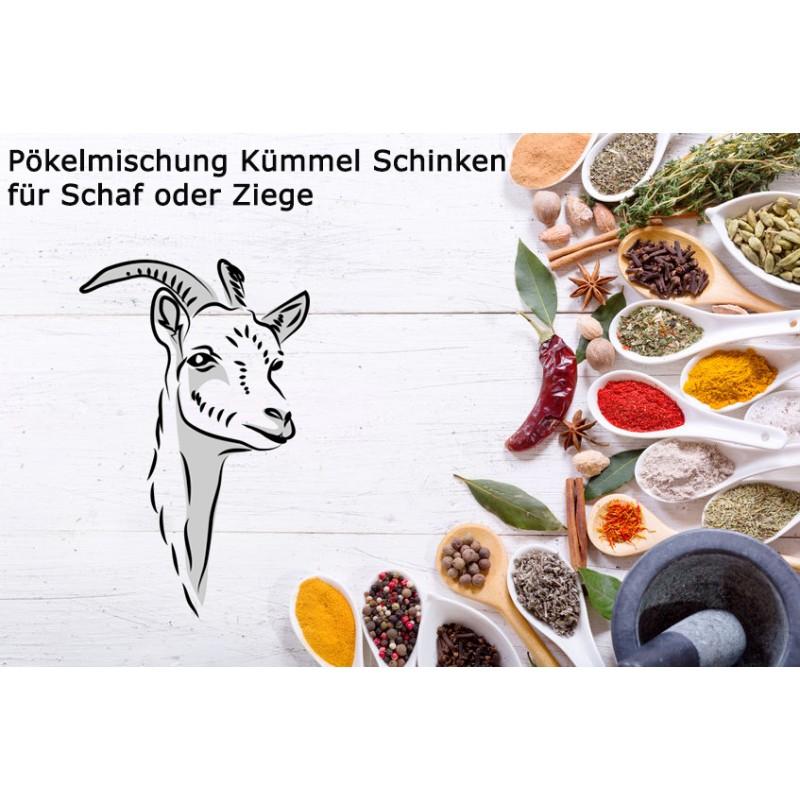 Pökelmischung Kümmelschinken Schaf/Ziege für 4 Kilo Fleisch Deutsche Handarbeit