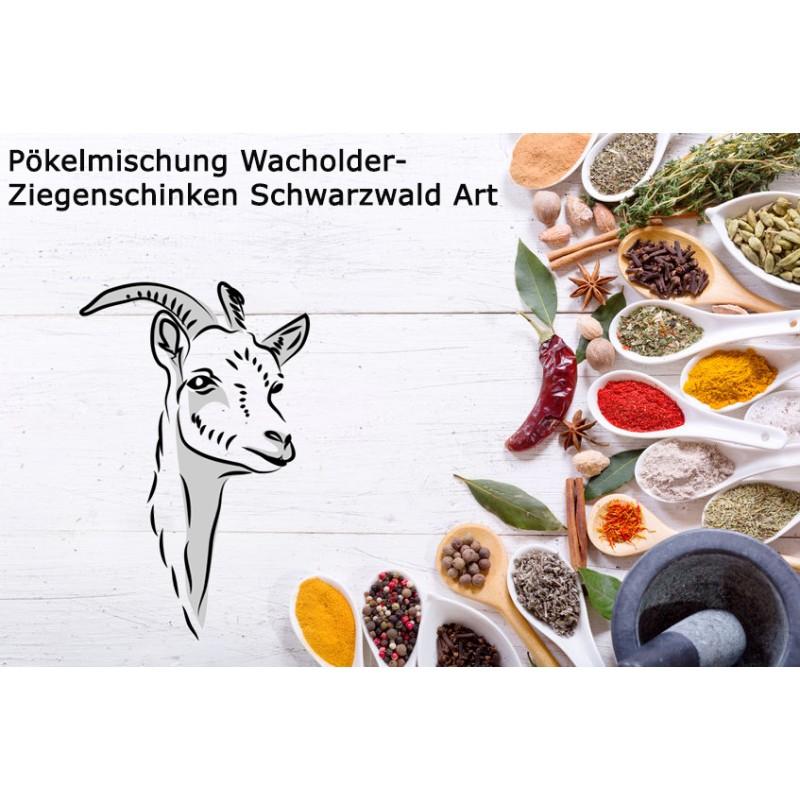 Pökelmischung Wacholder-Ziegenschinken Schwarzwald Art. Deutsche Handarbeit