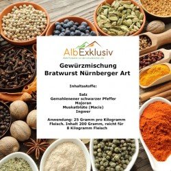 Gewürzmischung Bratwurst Nürnberger Art, Nürnberger Rostbratwurst