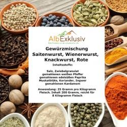 Gewürzmischung Saitenwurst, Wienerwurst, Knackwurst, Rote Wurst für 8 Kilo Wurst