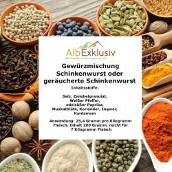 Gewürzmischung für Schinkenwurst / geräucherte Schinkenwurst. Für 7 Kg Wurst