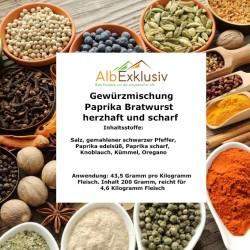 Gewürzmischung Paprika Bratwurst herzhaft und scharf. Deutsche Handarbeit