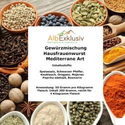 Gewürzmischung Hausfrauenwurst mediterane Art. Deutsche Handarbeit. Blitzversand