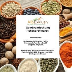 Gewürzmischung Putenbratwurst. Deutsche Handarbeit. Blitzversand.