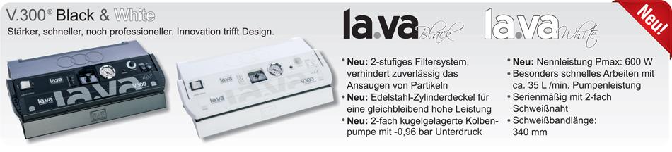 Vakuumierer V.300 - Serie black & white - die Neuheiten: